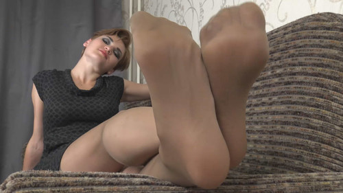 Gloria - jerk off instruction in nylon Full HD
