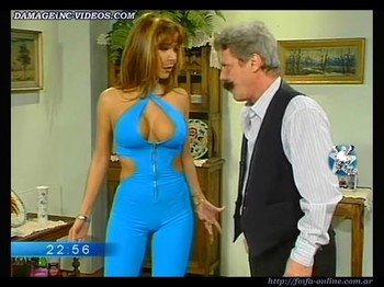 Alejandra Mora hot body in a blue catsuit