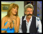 Alejandra Mora squeezing her boobs