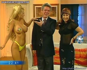 Dana Fleyser curvy body in yellow thong