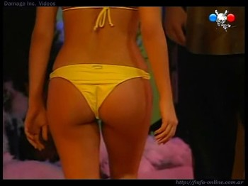 Delfina Gerez Bosco cute ass in yellow thong