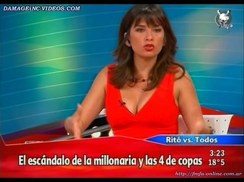 Edith Hermida big tits journalist