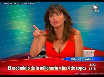 Edith Hermida big boobs on TV
