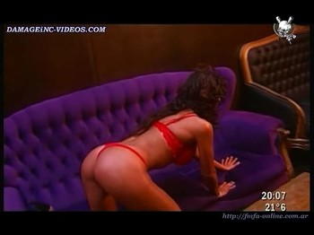 María Lujan Telpuk booty in red thong