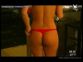 Mariela Montero cute ass in red thong