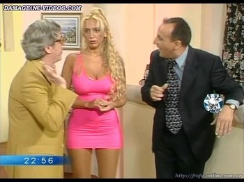Sabrina Pettinato curvy blonde in tight dress