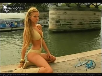 Rocio Guirao Diaz hot lingerie by the river
