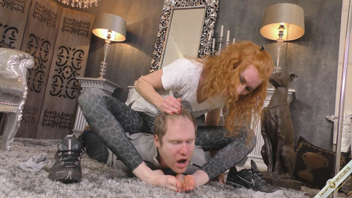 Swallow her Spit and get smothered under Karos feet - FULL HD