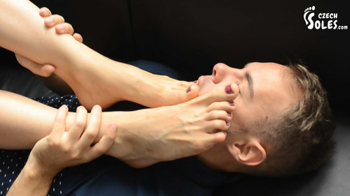 Fashion job interview - foot worship