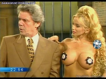 Dana Fleyser busty blonde wearing only pasties