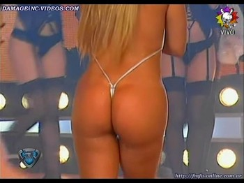 Maria Eugenia Rito bi ground booty in a g-string