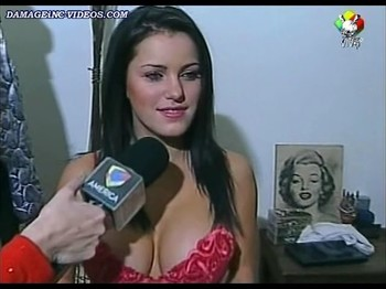 Mariana Diarco big boobs in a red bra