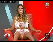 Cinthia Fernandez hot spread upskirt