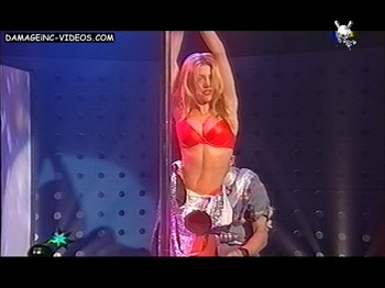 Monica Ayos pole dance strip