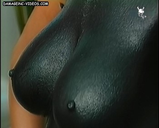 Daniela Cardone huge tits painted