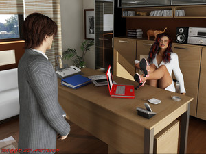 Rocco3Dart Secretary 3D Adult Comics