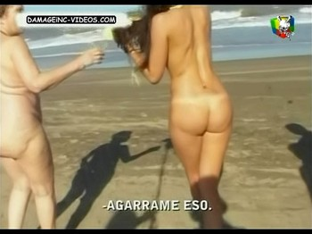 Paz Tarragona naked ass at the beach