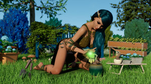 Shemale elf babe fucking sexy female elf girl outdoors on beautiful sunny day 3D Adult Comics