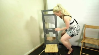 Blonde on the guillotine