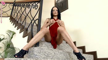 Angellina -  Staircase Satisfaction, HD, 720p