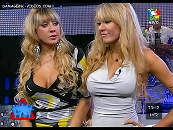Pombo sisters big tits and nipple poking