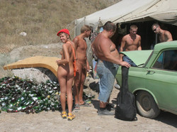 Crimea nudist family