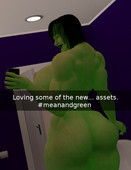 Sexy She-hulk cartoon - Selfie Remastered from Adiabatic combustion