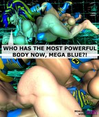 Sexy monster girl in Realms and void Erotica - The Mega Blue Yonder