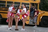 Aline & Jaclyn Case & Rachel Roxxx - Go Team (posing)