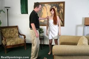 Alyssa's Fully Nude Straddled Hand Spanking - image2