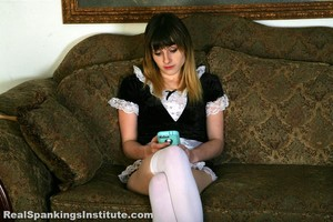 Maid Mable Is Spanked By Her Boss - image1