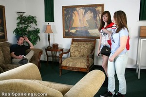 Adrianna Spanked In Front Of Her Friend - image1