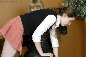 Ms. Burns Gives Bailey A Hand Spanking - image2