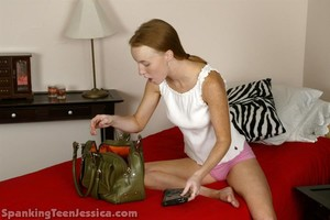 Jessica Is Strapped Hard For Snooping - image5