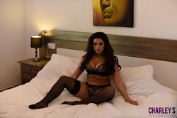 Charley Teasing in Black Lingerie in Bedroom  d6r6lofths.jpg
